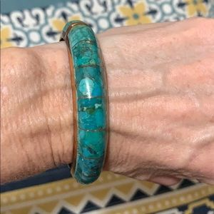 Jewelry - Kingman inlaid turquoise bangle